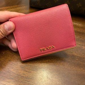 Prada Pink Leather Convertibles wallet